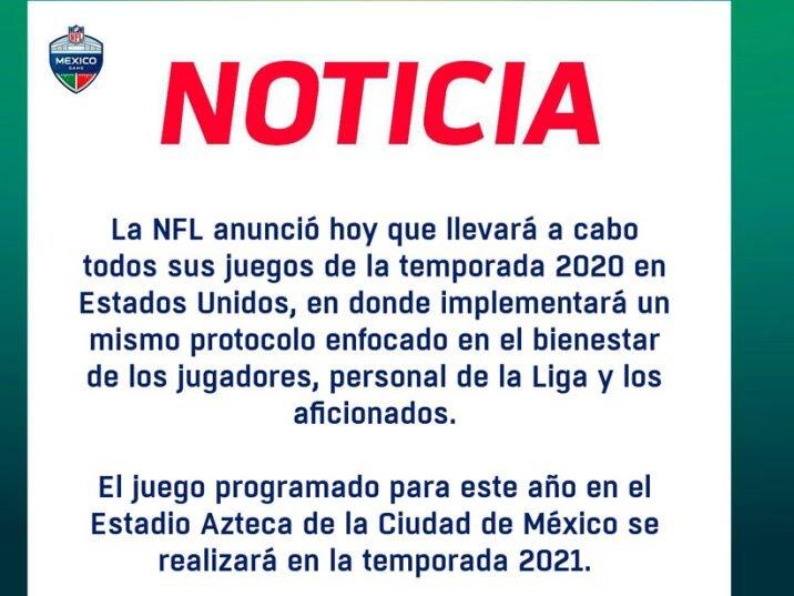 Comunicado NFL México